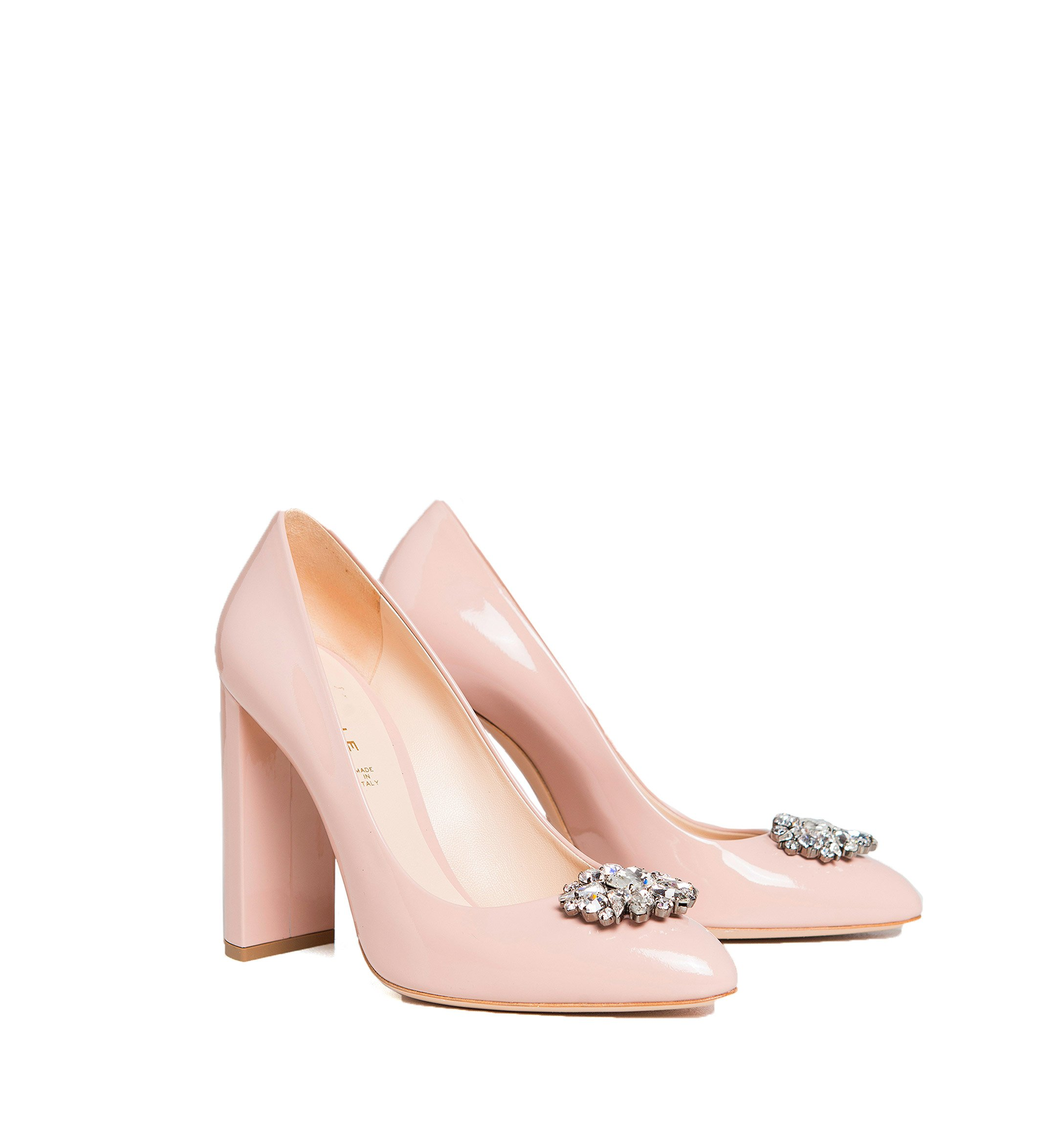 Deimille Kelly Pink Patent Leather Pumps