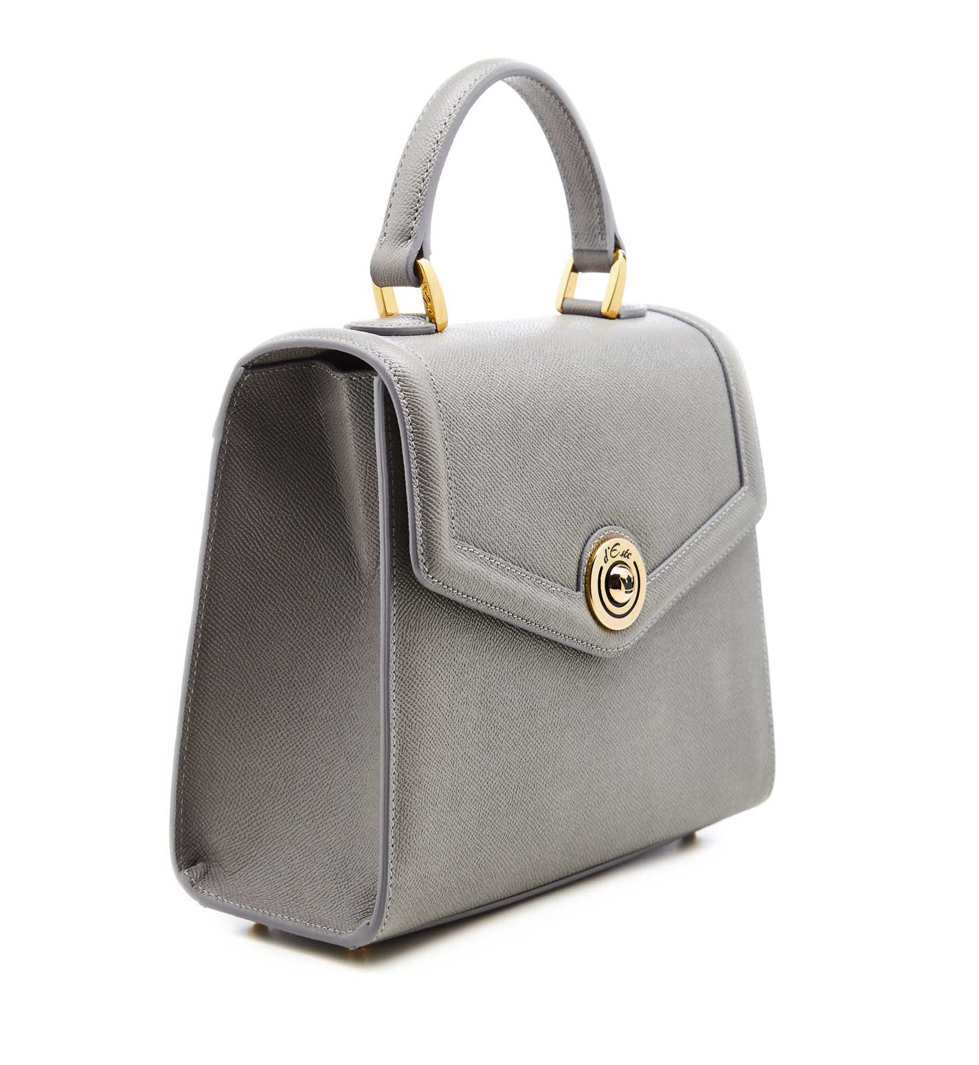 Pale Grey Leather Per Bags